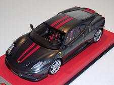 1/18 Looksmart MR Ferrari F430 Scuderia Grigio Silverstone Red Stripes Silver
