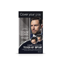 Cover Your Gray Mens Color Cover Touchup Spray - Black