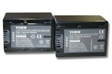 2x CAMCORDER Akku BATTERIE 1300mAh für SONY Handycam HDR-CX520VE / HDR-CX115E