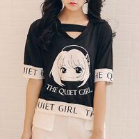 Korean Fashion Summer Women Girl Short Sleeve Casual T-Shirt Blouse Tops Tee FEH