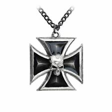Alchemy Gothic (Metal-Wear) Black Knight's Cross Pewter Pendant BRAND NEW