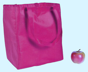 """New LARGE HOT PINK TOTE BAG 12"""" x 8"""" x 13.5"""" Nonwoven, Strong, Light, Folds Flat"""