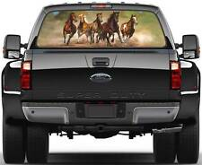 Galloping Horses 2 Ver 1  Rear Window Graphic Decal Truck SUV Van Car