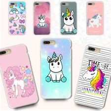 Soft Unicorn Rubber Ultra Slim Silicone TPU Phone Cover Case For iPhone 8 7 6s 5