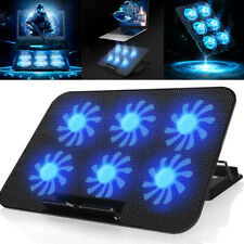 6 Fans Laptop Cooler Stand USB Cooling Pad Chill Mat 12''-17'' Inch Notebook PC