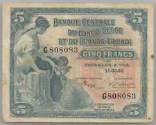 Belgian Congo Ruanda Urundi 5 francs 15-05-1953