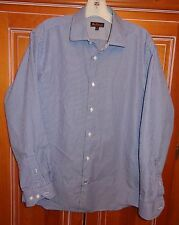 Ben Sherman Blue Striped long Sleeve Dress Shirt size 15 32-33 Medium