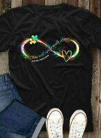 Autism Awareness You Will Never Walk Alone Men T-Shirt Cotton S-6XL