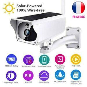 étanche Sécurité Solaire Caméra de Surveillance Wifi Sans Fil IP Caméra 1080p IP