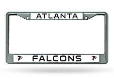 NFL Atlanta Falcons Chrome License Plate Frame Thin Letters