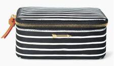 STELLA & DOT Travel Jewelry Makeup Box Black Clean Stripe Organizer New w/ Tags