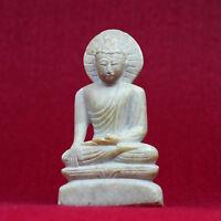 Bouddha Figurine (283g) Marbre Beau Sculpté Statuette Nepal Artisanat 10