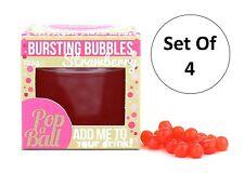 Popaball estallar las burbujas Conjunto de 4 125g fresa Saborizante Boba Bubble Tea Bebida
