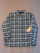 BNWT STANLEY GREEN FLANNEL FLEECE LINED LONG SLEEVE SHIRT XLARGE XL RETAILS $60