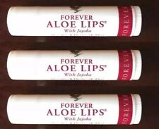 3 X Forever Living Lips Aloe Vera Lip Balm Sticks With Jojoba Free Post UK Sale