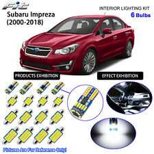 6 Bulbs Cool White LED Interior Dome Light Kit For 2000-2018 Subaru Impreza