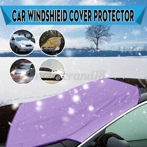 Purple Car Auto Magnet Windshield Windscreen Cover Sun Snow Ice Frost Protector