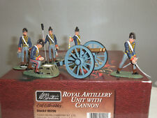 BRITAINS 00290 BRITISH ROYAL ARTILLERY UNIT CANNON GUN + CREW TOY SOLDIER SET