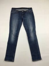 Women's Levi 524 'Too Superlow' Jeans - W34 L34 - Navy Wash - Great Condition