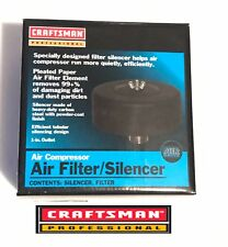 "L1 Rare HTF: Craftsman Professional Air Compressor Silencer 1""inlet 99% Redu"