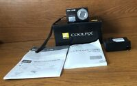 NIKON COOLPIX S550 10.0MP DIGITAL CAMERA With Extras