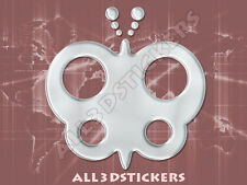 3D Sticker Decal Resin Domed Butterfly Adhesive Decal  Chrome