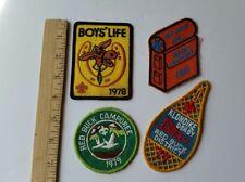 1977, 78, 79, 85 Boy & Cub Scouts Badges Patches Rec Award Vtg Original Lot