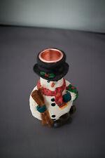 Christmas Snowman Dinner Candle Holder