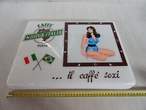 PANNELLO PER INSEGNA LUMINOSA CAFFE' SEXY NUOVA ITALIA ROMA SIGN PIN-UP