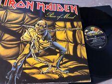 Iron Maiden Piece Of Mind Vinyl LP EMI 1A 064-07724 FOC EU 1983
