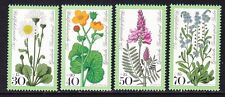 Germany Berlin 9NB137-40 MNH 1977 Meadow Flowers Complete Set Very Fine