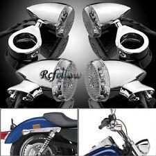 Fine Polished LED Turn Signals Light For Harley Davidson Softail Dyna Wide Glide