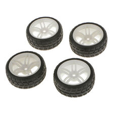 4PCS RC 1/10 Car Buggy Rubber Tyres Tires Wheel Rims Car Toys