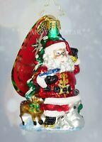 Christopher Radko NEW Little Gem Santa's Menagerie Of Friends Christmas Ornament