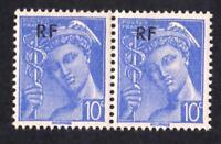 VARIÉTÉ-N°657 ( Le grand F de la surcharge tenant à normal) type Mercure- Neuf**