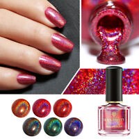6ml BORN PRETTY Holographic Nail Polish Black Red Glitter Nail Art Varnish