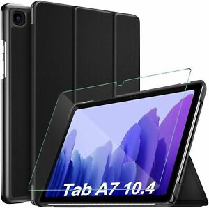 For Samsung Galaxy Tab A7 10.4 (2020) Smart Tablet Case Cover & Tempered Glass