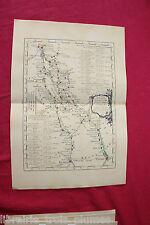 ✒ CARTE 1766 Guide des voyageurs - Paris à Nantes & Rennes BRETAGNE