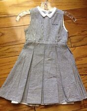 DKNY Girls 4 6 Dress $96 Sunday Picture Gingam Pleat Skirt Zip Back Classy FAB