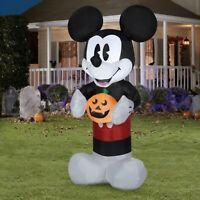 HALLOWEEN Disney 5ft Mickey Mouse w/ Pumpkin Jack O Lantern Airblown Inflatable