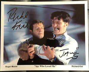 RICHARD KIEL SPY WHO LOVED ME Signed Photo Autograph 8x10 Photograph Signature 1