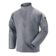 Black Stallion NFPA 9oz Gray FR Cotton Welding Jacket (Medium) (JF2220-GY)