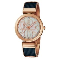 Charriol Women's Forever Diamond Dial Blue/Rose Goldtone Quartz Watch FE32F02002