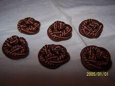 19mm N°383 Couleur vieux rose Lot de 6 boutons anciens en fil de soie