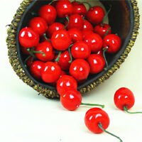 20x Artificial Fake Cherry Fruit Food Wedding Party House Home Creative DeFFB