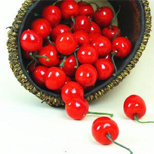 20X Artificial Fake Cherry Fruit Food Wedding Party House Home Craft Decor sHCA