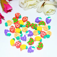 50pcs Cute Mini Fruit Rubber Pencil Eraser For Kids Stationery/Gift/Toy Hot Sale