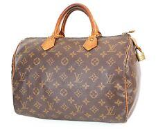 Authentic LOUIS VUITTON Speedy 30 Monogram Boston Handbag Purse #38173