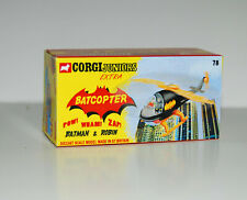 CUSTOM MADE DISPLAY BOX FOR CORGI JUNIORS 78 BATCOPTER - FREE U.K. POST
