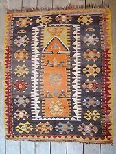 Estate Antique Turkish Prayer Kilim Rug